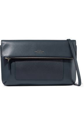 SMYTHSON Panama textured and smooth-leather shoulder bag