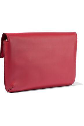 SMYTHSON Panama fold-over leather shoulder bag