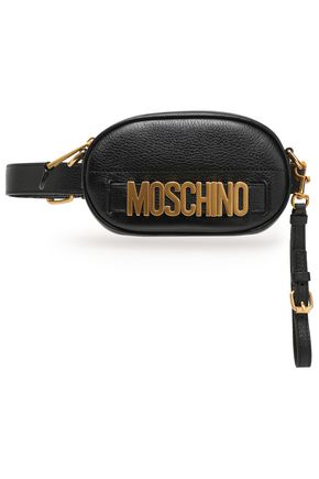 MOSCHINO Embellished textured-leather belt bag