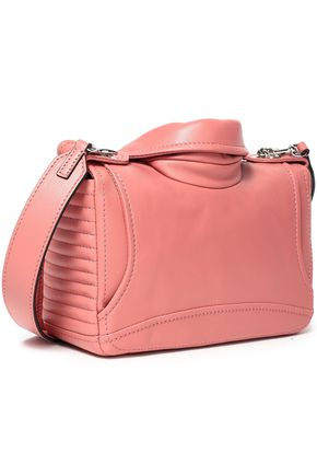 MOSCHINO Zip-detailed leather shoulder bag