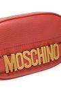 MOSCHINO Embellished textured-leather belt bag