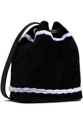 MOSCHINO Flocked velvet bucket bag