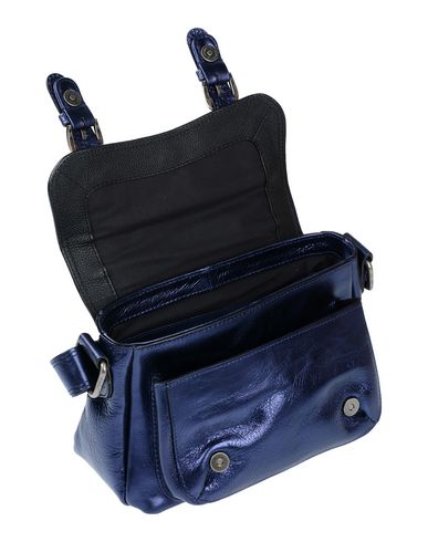 Фото 2 - Сумку через плечо от MINORONZONI темно-синего цвета