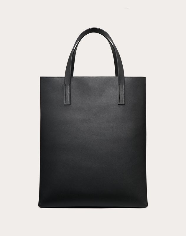 Leather VLOGO shopping bag