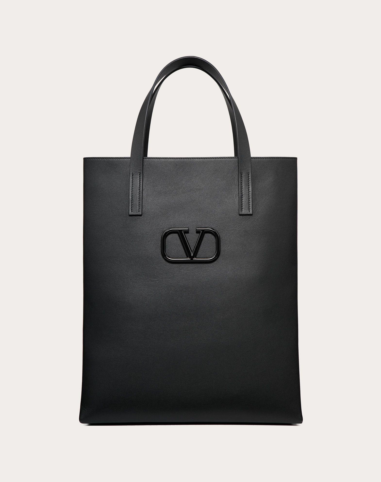 Borsa Shopping VLogo in pelle