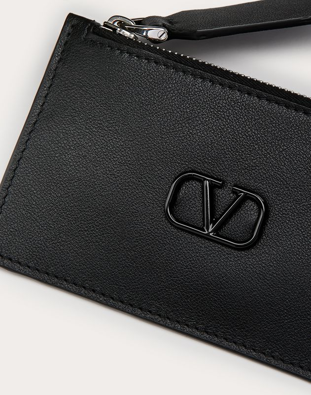 Leather VLOGO card holder