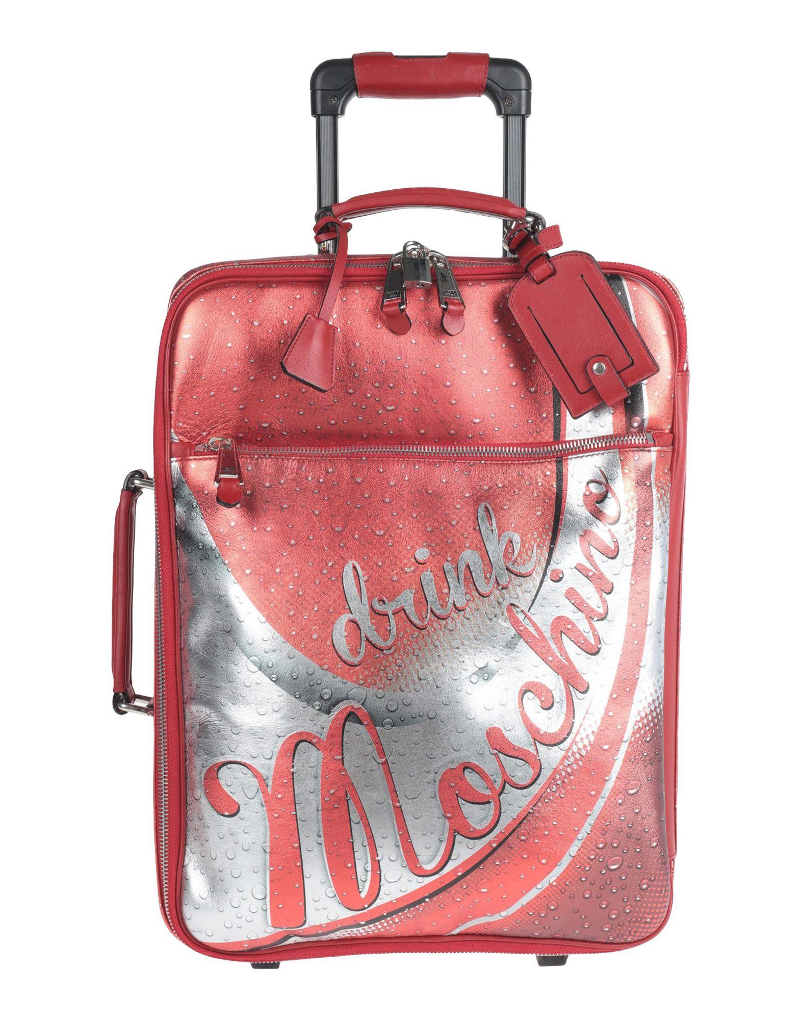 《期間限定セール中》MOSCHINO レディース キャスター付きバッグ レッド 革