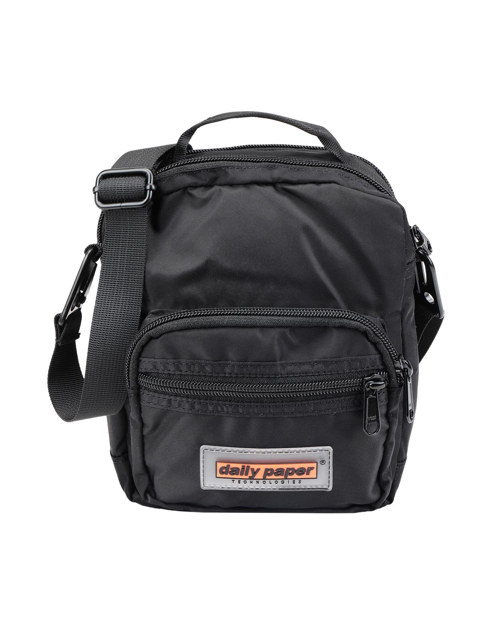 《期間限定セール中》DAILY PAPER レディース 肩掛けバッグ ブラック ナイロン 100% FIDI