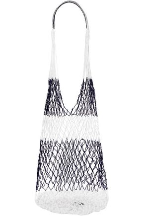 SOPHIE ANDERSON Two-tone macramé shoulder bag