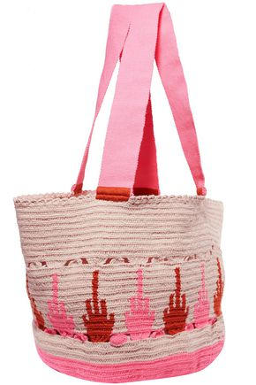 SOPHIE ANDERSON Scalloped printed woven tote