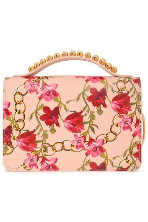 MOTHER OF PEARL Embellished printed leather shoulder bag