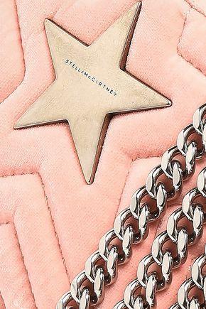 STELLA McCARTNEY Embellished quilted velvet shoulder bag