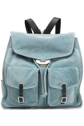 RAG & BONE Leather-trimmed suede backpack