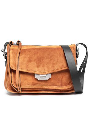 RAG & BONE Leather-trimmed suede shoulder bag
