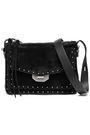 RAG & BONE Leather-trimmed suede shoulder bag