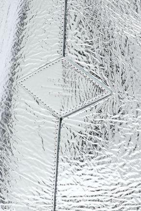 RAG & BONE Metallic cracked patent-leather shoulder bag