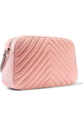STELLA McCARTNEY Quilted velvet shoulder bag