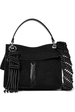 PROENZA SCHOULER Leather-trimmed suede shoulder bag