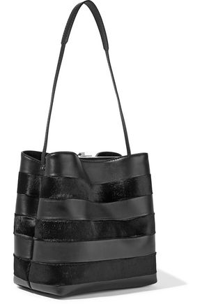 PROENZA SCHOULER Leather and calf hair bucket bag
