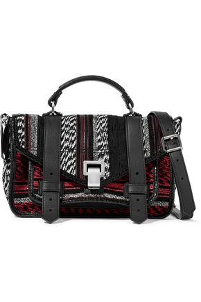 PROENZA SCHOULER PS1+ Tiny crochet-knit and leather shoulder bag