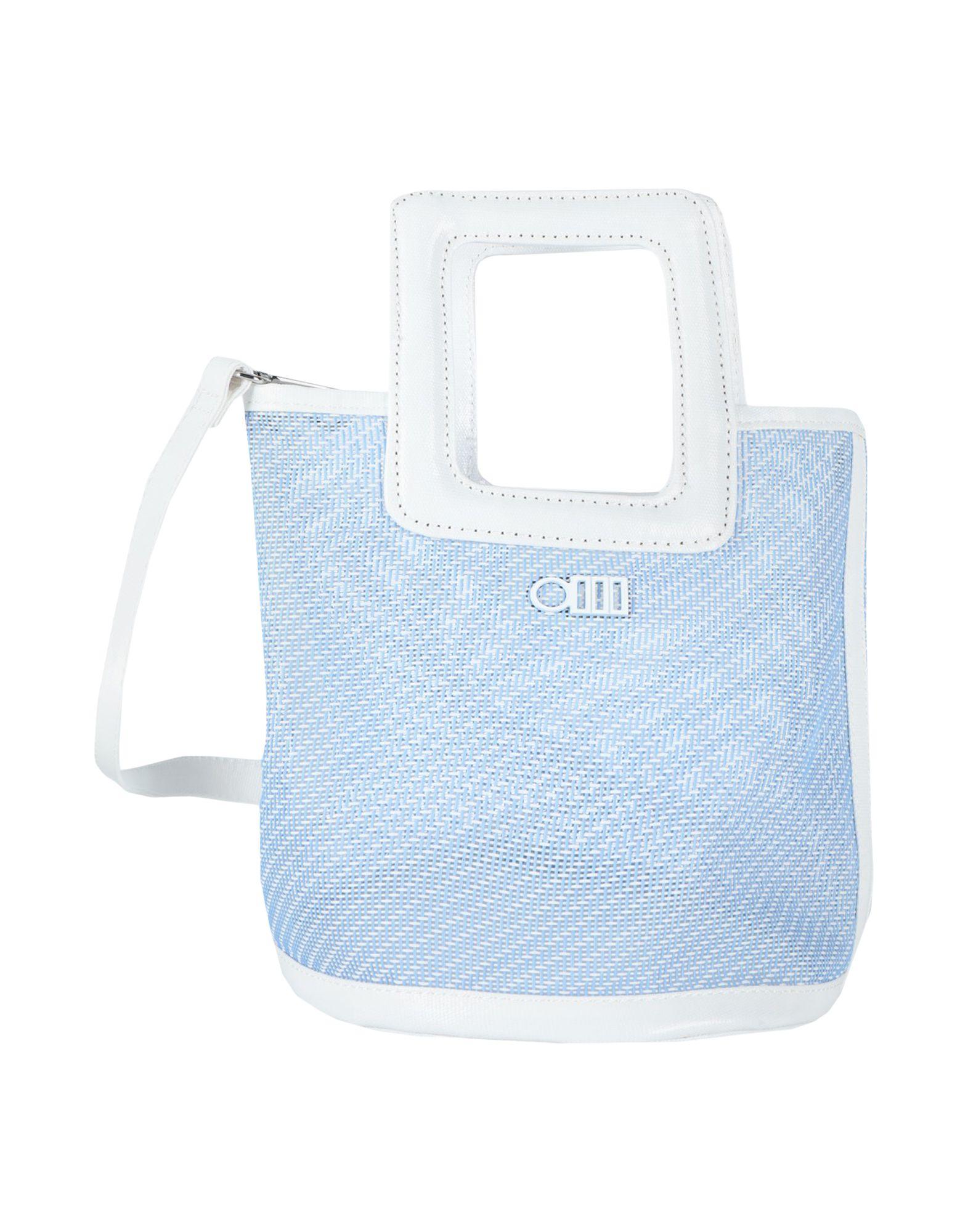 《セール開催中》SOLID & STRIPED レディース ハンドバッグ アジュールブルー ポリ塩化ビニル 70% / Textilene? 30%