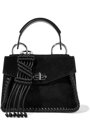 PROENZA SCHOULER Hava leather-trimmed suede shoulder bag