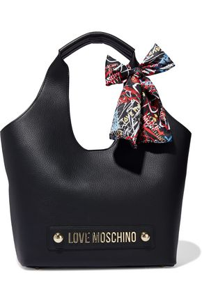 LOVE MOSCHINO Embellished textured-leather tote