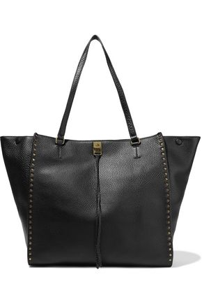 REBECCA MINKOFF Darren studded pebbled-leather tote