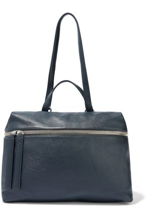 KARA Pebbled-leather shoulder bag