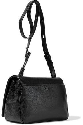 KARA Mini Messenger pebbled-leather shoulder bag