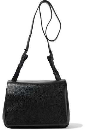 KARA Mini Messenger pebbled-leather shoulder bag