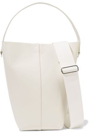 KARA Pinch Pail glossed-leather shoulder bag