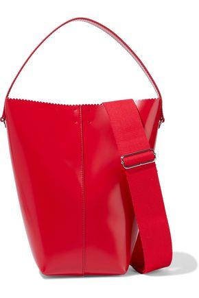 KARA Pinch Pail glossed-leather bucket bag