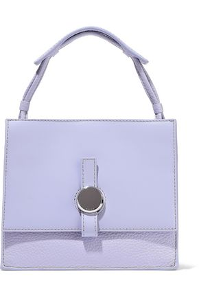 KARA Baby Moon smooth and textured-leather shoulder bag