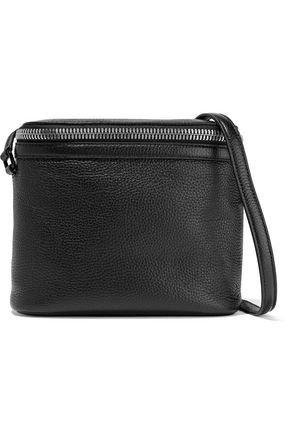 KARA Stowaway pebbled-leather shoulder bag