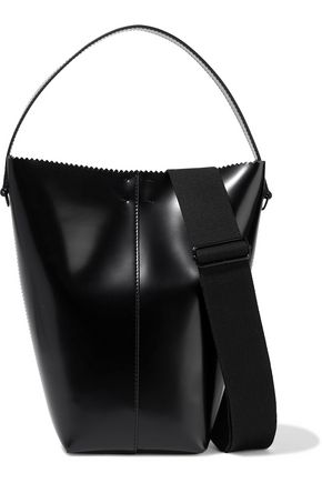 KARA Pinch Pail glossed-leather bucket bag