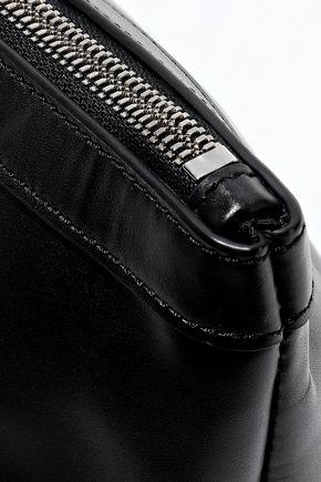 KARA Pyramid leather clutch
