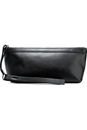 KARA Pyramid leather clutch