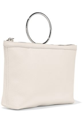 KARA Ring pebbled-leather pouch