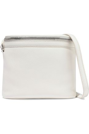 KARA Large Stowaway textured-leather shoulder bag