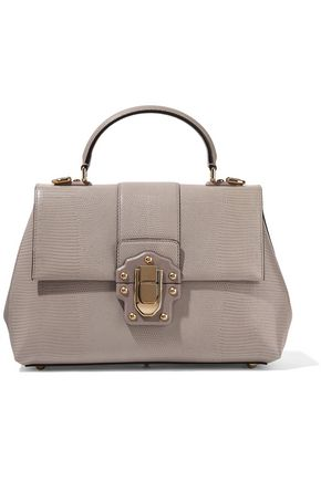 DOLCE & GABBANA Lucia lizard-effect leather tote