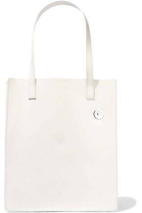 KARA Pinch glossed-leather tote