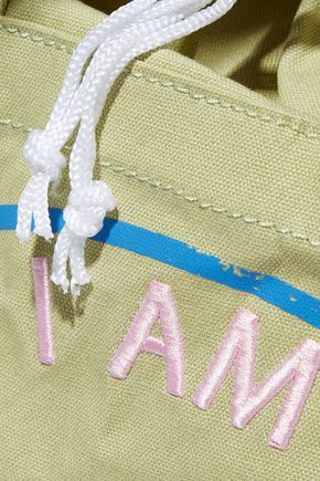 SEE BY CHLOÉ Live embroidered printed cotton-canvas tote
