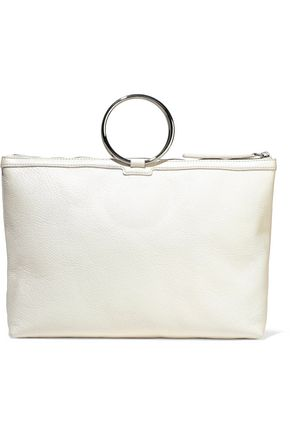 KARA Ring pebbled-leather shoulder bag