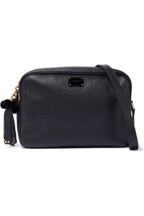 DOLCE & GABBANA Glam embellished pebbled-leather shoulder bag