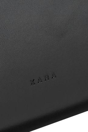 KARA Tie glossed-leather shoulder bag