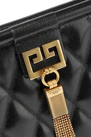 GIVENCHY Gem medium quilted glossed-leather shoulder bag