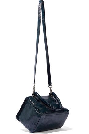 GIVENCHY Pandora small cracked patent-leather shoulder bag
