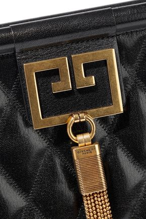 GIVENCHY Gem large quilted glossed-leather shoulder bag