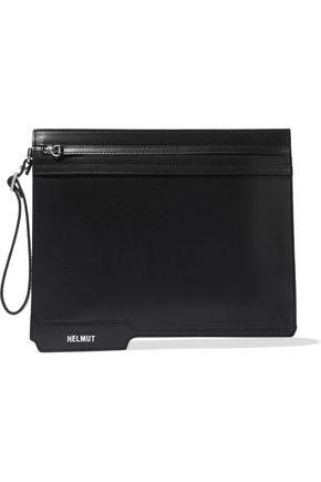 HELMUT LANG Folder leather clutch